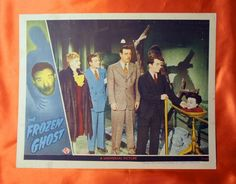 Original FROZEN GHOST (1945) Lobby card Lon Chaney Jr. Universal Studio