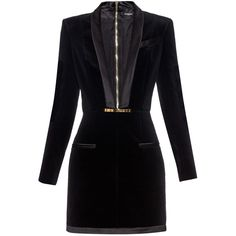 Balmain V-neck velvet dress ($3,055) ❤ liked on Polyvore featuring dresses, vestidos, black, balmain dress, black dress, studded dress, black cocktail dresses and black v neck cocktail dress