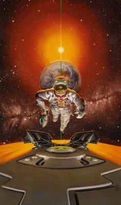 by Donato Giancola. this is the cover to the Larry Niven book, Protector.