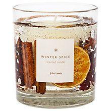 Buy John Lewis Winter Spice Gel Candle, Medium, 75g Online at johnlewis.com