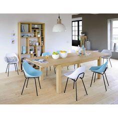 Table de salle à manger à rallonges en bois L 200 cm Danube | Maisons du Monde