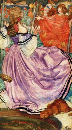 Eleanor Fortescue-Brickdale (Eleanor Fortescue Brickdale) (1871-1945)  The Gilded Apple