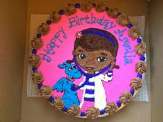 doc mcstuffins cake - hmm I don't think mine would look this good haha