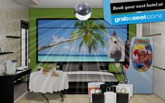 Check out my hotel room! I made this with Grabaseat's Hotel Roulette. Make your own at http://www.hotelroulette.co.nz and you could win a 5 day trip for 2 to the Gold Coast!