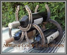 we can make a wine rack out of your horses shoes