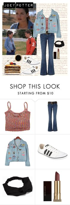 """""""Joey Potter - Outfit Inspiration - Season 3"""" by vilena-ferreira ❤ liked on Polyvore featuring Jane Norman, Chicnova Fashion, adidas, Pieces and Kevyn Aucoin"""