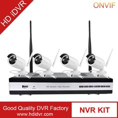 """4CH 1.0 mp wifi ip camera nvr kit, 4PCS WIFI yoosee Camera+1 set H.264 NVR, NVR Support 4CH 1080P/960P/720P Recording"""