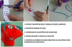 Una tarde de manualidades y juegos. Cómo sacarle el máximo partido en: http://www.trebolito.com/2014/04/hacemos-marionetas.html