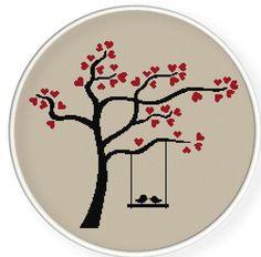 birds on a love tree, valentine's day