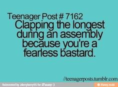 lmao this me and when the assembly person says hi i scream and say hiiiiii! im so silly :P