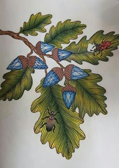 Dagdrömmar Hanna Karlzon Coloring Book. Coloured by Karin Persson