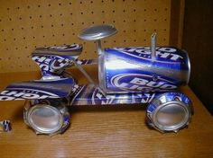 Aluminum can tractor.