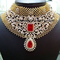 Jewellery Designs: Belgium Cut Diamonds Bridal Set