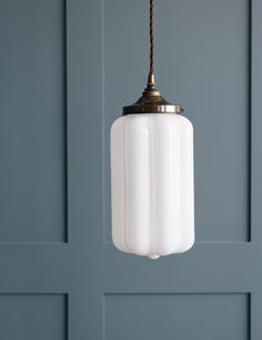 Opal Glass Pendant Light at Rose & Grey