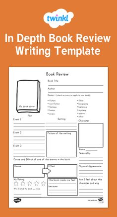 Free Book Review Templates By Mrs N   Pinteres