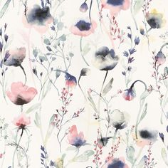 Lo Multi is a water coloured wallpaper in pinks and blues. Welcome to Sandberg Wallpaper. M Wallpaper, Watercolor Wallpaper, Wallpaper Direct, Watercolor Design, Colorful Wallpaper, Flower Wallpaper, Pattern Wallpaper, Floral Watercolor, Sandberg Wallpaper