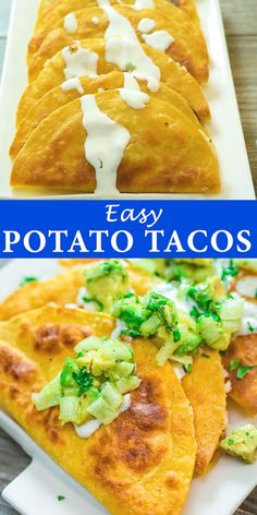 These delicious and crispy Potato Tacos are crunchy on the outside and soft on the inside. Potato Tacos, Cooking Recipes, Healthy Recipes, Soft Food Recipes, Easy Mexican Food Recipes, Healthy Food, Hot Sauce Recipes, Mexican Breakfast Recipes, Best Vegetarian Recipes