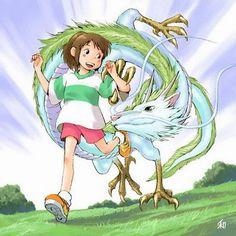 Spirited Away   Chihiro and Haku