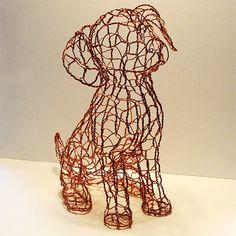 crafty ideas wire puppy  sculpture