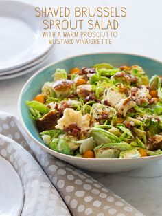 @Mindy Miller, I'm starting to wonder if this is your secret food blog... Shaved Brussels Sprouts Salad
