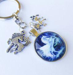 Unicorn pegasus keyring