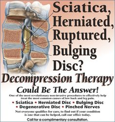 #Spinal_Decompression could be the answer your looking for. #sciatica #bulging_disc