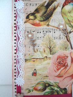 Capa dura em mdf para caderno estilo vintage.