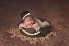 Baldinho redondo de ferro para fotografia newborn