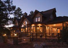 San Juan Lodge Log Home Plan p743 - LogHome.com
