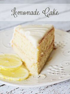 Lemonade Cake - Lemon cake with Lemon cream cheese frosting!