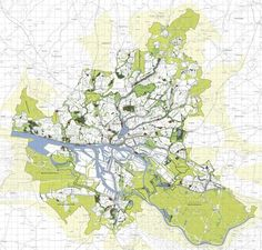 Planned green network for Hamburg