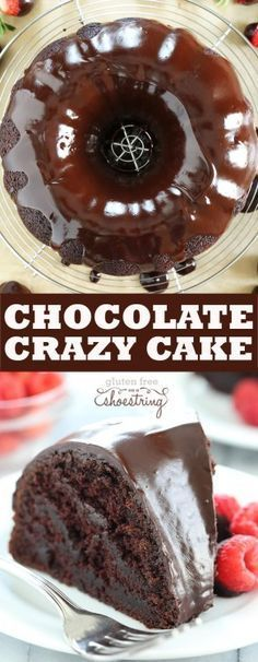 This crazy cake is a gluten free chocolate cake made with no eggs, no ...