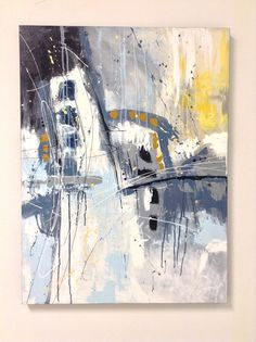 Grande peinture abstraite rectangle vertical wall art
