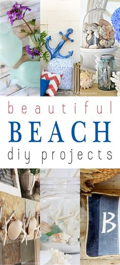 Unbelievable Fabulous Beach Decor DIY Projects…you can hear the Ocean now! The post Fabulous Beach Decor DIY Projects…you can hear the Ocean now!… appeared first on Lully . Beach Cottage Style, Beach Cottage Decor, Cottage Crafts, Cottage Ideas, Coastal Cottage, Seaside Decor, Coastal Decor, Coastal Living, Diy Beachy Decor