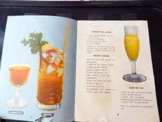 antigo livro de receitas de coqueteis anos 50!!!
