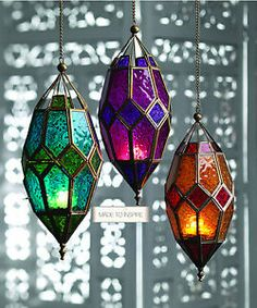 Moroccan Style Large Hanging Glass Lantern > Moroccan Style Lanterns in Coloured Glass > Home & Gifts > Namaste Fair Trade > Namaste-UK Ltd Moroccan Lamp, Moroccan Lanterns, Moroccan Style, Moroccan Fabric, Moroccan Garden, Morrocan Decor, Moroccan Lighting, Turkish Lamps, Moroccan Blue