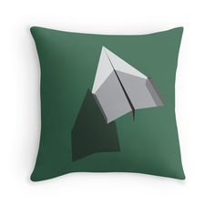 """Paper Airplane 43"" Throw Pillows by YoPedro 