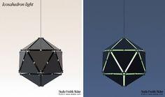 Icosahedron light  light sculpture  aluminium   Diameter: 22 cm  © 2012 Fredrik Skåtar www.skatar.com