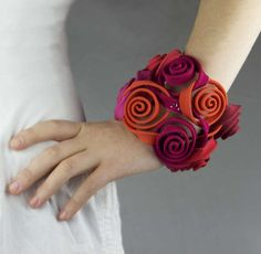 Floral Fabric Accessories - The Peru Textile Jewelry Collection by Claudia Stern is Textural (GALLERY)