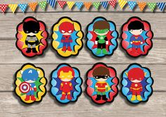 8x SUPERHERO Character Decorations Pop Ups Birthday Party Supplies Wall Decor Digital Printable Decorations Table Centerpiece Spiderman Boys by RedAppleStudio on Etsy https://www.etsy.com/listing/219010348/8x-superhero-character-decorations-pop