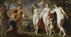 Peter Paul Rubens - El juicio de Paris (1639). Barroco. Óleo sobre tabla de 199 × 379 cm. Museo Nacional del Prado (Madrid), España