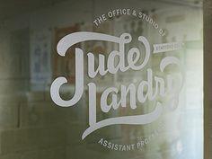 Office Door Graphic  by Jude Landry