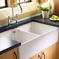 Double ceramic sinks, Ceramic sinks, Kitchen fittings, Holloways of Ludlow Ceramic Kitchen Sinks, Kitchen Taps, Old Kitchen, Kitchen Board, Country Kitchen, Kitchen Ideas, Belfast Sink, Kitchen Remodeling Companies, Sinks For Sale