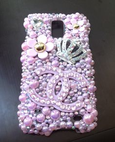 Marc Jacobs meets Chanel phone case handmade with Swarovski crystals and pearls