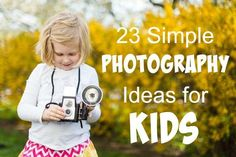 Easy and Fun Photography Tips - Easy and Fun Photography Tips 23 Photography Ideas for Kids – practical and easy ideas to get kids enjoying photography and learning School Photography, Photography Lessons, Photography Projects, Digital Photography, Children Photography, Amazing Photography, Photography Hashtags, Photography Backdrops, Photography Ideas Kids