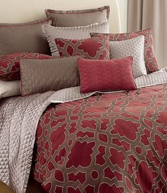 candice OLSON Maze Bedding Collection Candice has always been my fav.she has uber fabulous style and taste! My dream is to have her redo my bedroom. Candice Olson Bedding, Comforter Sets, Duvet, Types Of Beds, Beautiful Bedrooms, Beautiful Beds, House Beautiful, Bed Styling, Bedding Collections