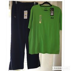 "NWT UNDER ARMOUR ATHLETIC SET! Brand new Under Armour Athletic Set!!  Never worn, with tags!  The Bottoms are ""All Season Gear"", Loose Women's Joggers Size Medium.  The Top is a Men's XL Loose Heat Gear T-Shirt!  You will be very pleased with the quality of Under Armour! Under Armour Other"