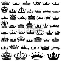 Crown design Set - 50 illustrations, Vector. Stock Photo - 19334705