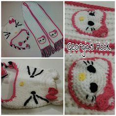 """14 """"Μου αρέσει!"""", 1 σχόλια - Georgia's Hook (@georgias_hook) στο Instagram: """"#hello_kitty #hello_kitty_hat #hello_kitty_scarf #crochet_hello_kitty #crochet_hat #crochet_scarf…"""" Scarf Crochet, Crochet Hats, Crochet Hello Kitty, Georgia, Kids Rugs, Instagram Posts, Decor, Knitting Hats, Decoration"""