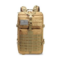 Outdoor Sports Backpacks Military Tactical Backpack Flag Patch Army Rucksack Camping Big Bagpack Waterproof Molle Bags Packs Color Army Green-US Survival Backpack, Tactical Backpack, Travel Backpack, Waterproof Hiking Backpack, Wholesale Backpacks, Molle Bag, Vintage Backpacks, Men's Backpacks, Military Backpacks